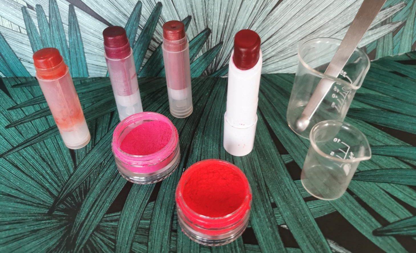 Atelier cosmétique maquillage - rouge à lèvres - Le Grimoire de Sandrine