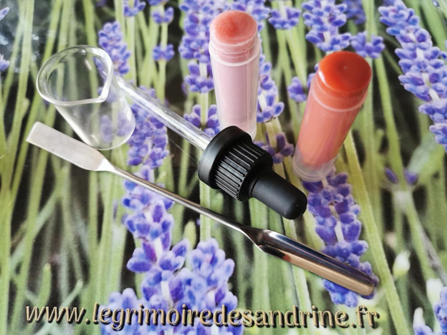 Atelier cosmétique - baume à lèvres - Le Grimoire de Sandrine